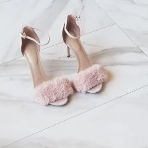 87e02c68f2c HOST PICK! ALDO Light Pink Faux Fur Heel Sandal